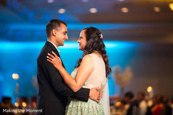 indian bride and groom first dance,indian wedding