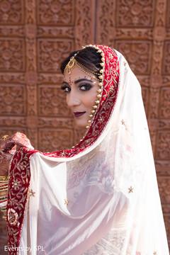indian bride,indian bridal fashions,dupatta