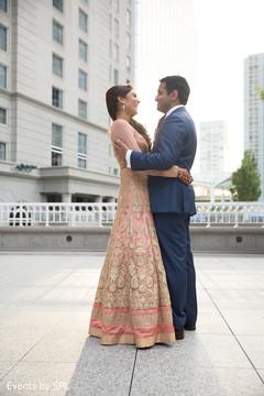 indian bridal fashions,bridal peach lengha