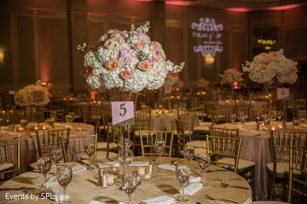 indian wedding floral and decor,white centerpieces