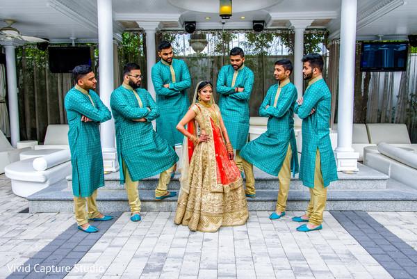 indian bride,indian groomsmen