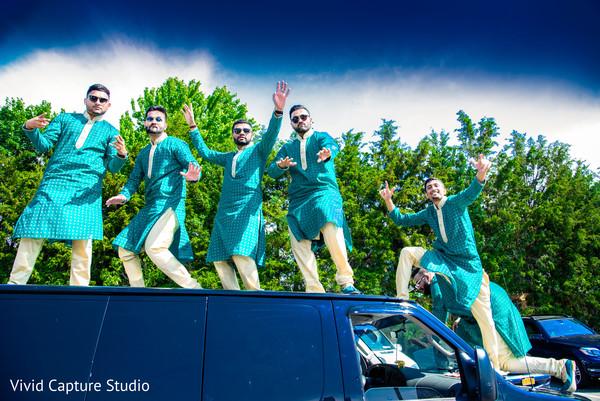 indian wedding baraat,indian groomsmen,indian pre-wedding celebrations