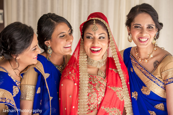 indian bride,indian bride getting ready,indian bride makeup,indian bridal fashions
