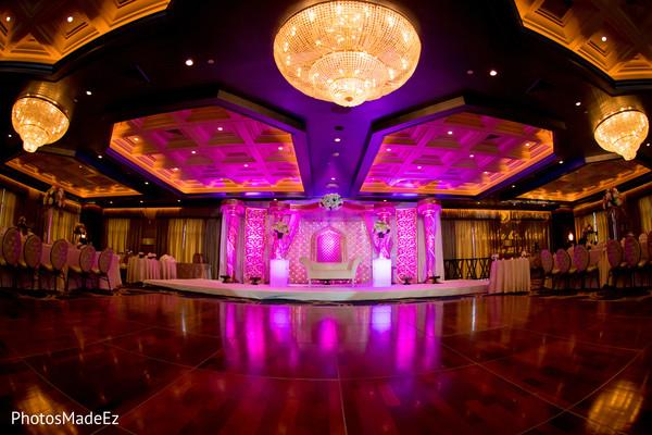 Indian wedding reception lightning.