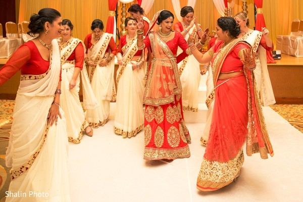 indian bridesmaids,indian bride,indian sari