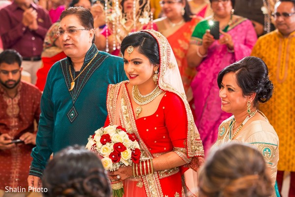 Gorgeous maharani walking down the aisle