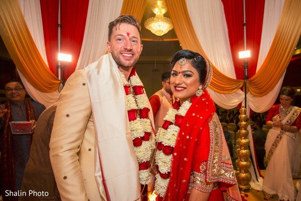 newlyweds,indian wedding,indian fusion wedding