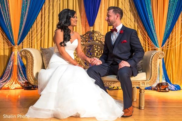 indian fusion wedding,newlyweds