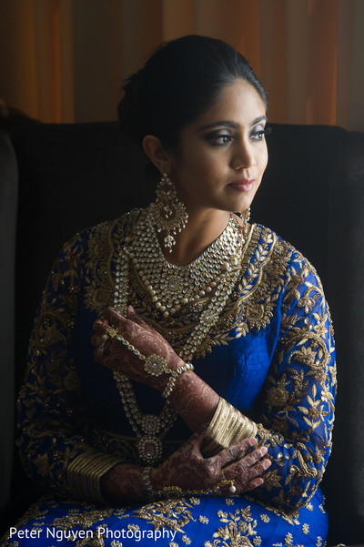 indian bride,indian bride getting ready reception fashion