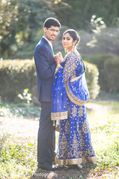 indian bride and groom,indian fusion wedding reception