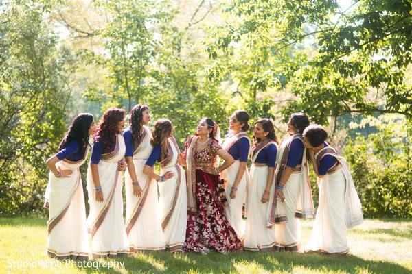 indian bride,ceremony fashion,indian bridesmaids