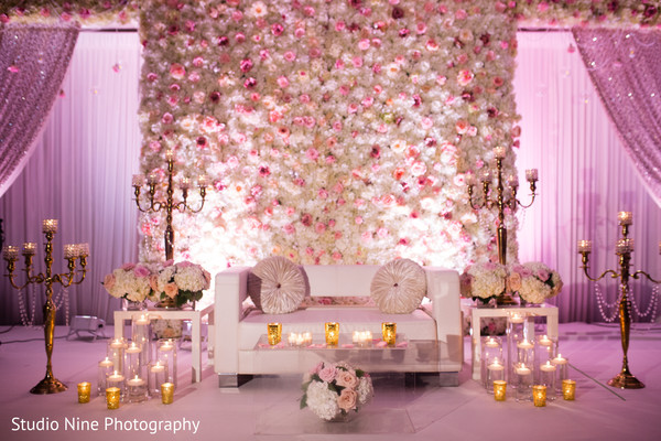 reception stage,indian wedding planning and design,indian wedding floral and decor