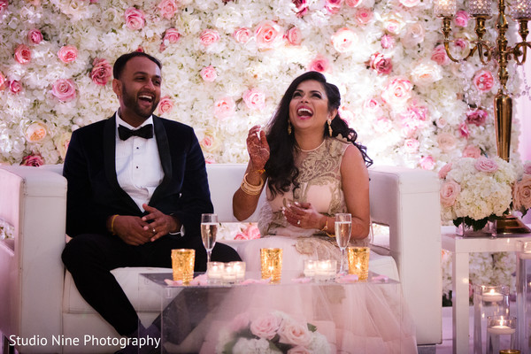 Candid photography of indian bride and groom.