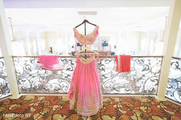 Indian bride's pink  bridal lengha