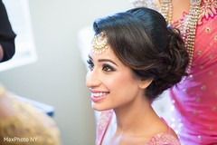 Sweet sikh bride makeup and hairstyle.