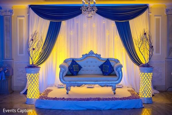 blue stage,indian weddings