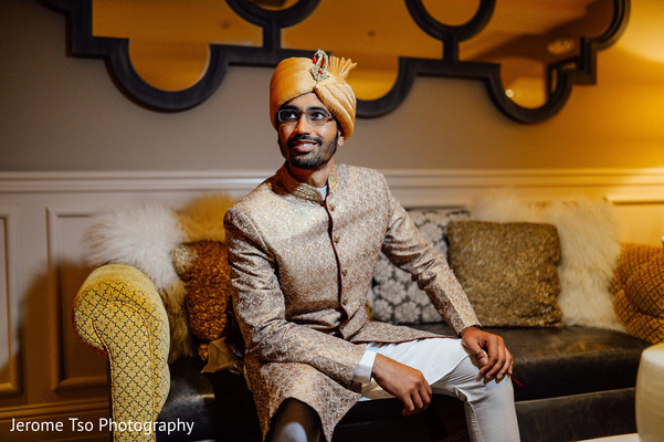 Indian groom ready for wedding ceremony