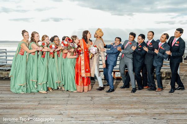 indian groomsmen,indian bridesmaids,indian wedding gallery