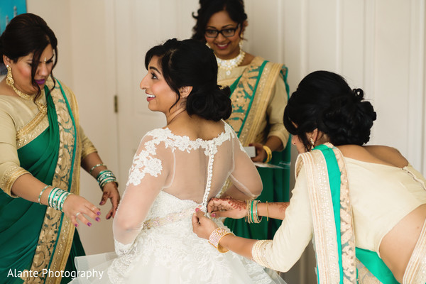 indian wedding dress,indian bride getting ready