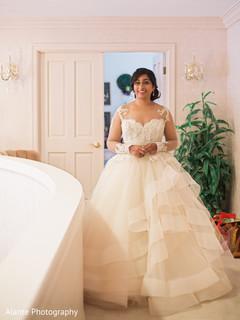 Gorgeous maharani in her wedding dress