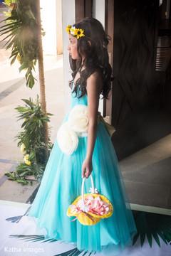 flower girl,indian bridal shower