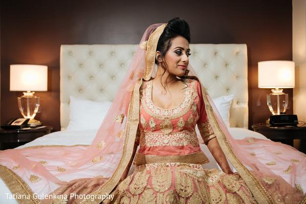 indian bride,indian bridal fashions,indian bride getting ready,indian wedding lengha