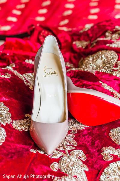 Glamorous indian bride shoes,
