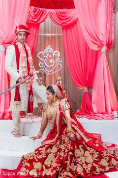 indian wedding ceremony,indian wedding floral and decor,indian wedding mandap,indian bride and groom
