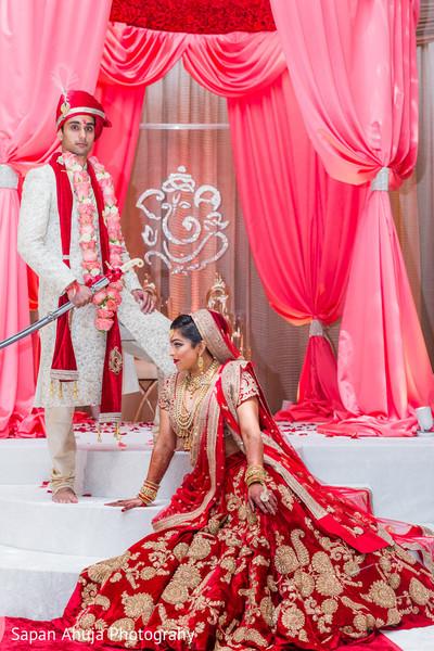 Indian wedding ceremony portrait.