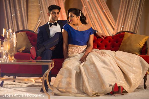 Indian couple looking fabulous.