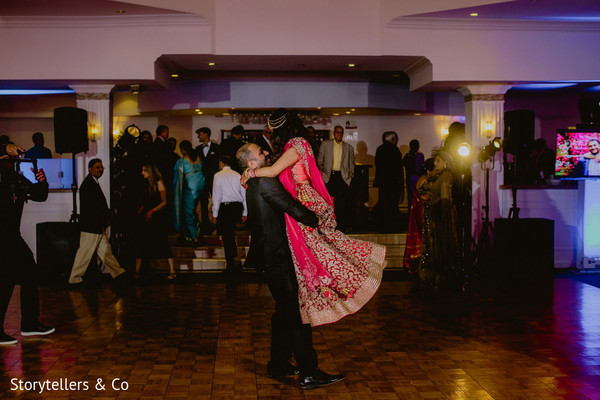 indian wedding reception,dj and entertainment,indian bride and groom,lightning