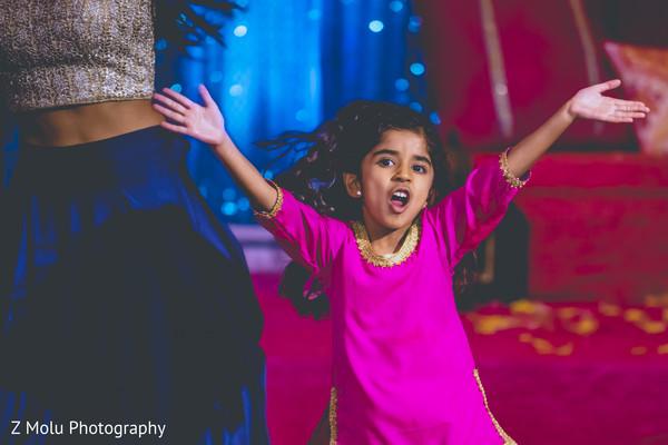 Cute little girl dancing