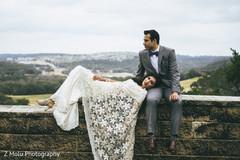 Beautiful outdoor wedding photo