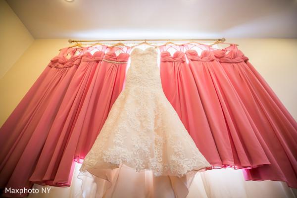 Indian bride white wedding dress