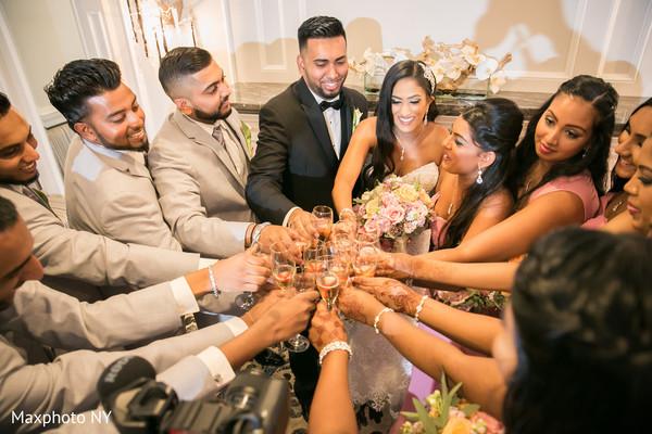 indian groomsmen,indian bridesmaids,indian wedding photography