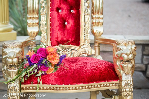 bollywood-inspired chair,bollywood style chair,gold chair,wedding reception chair,red chair,bollywood throne,indian wedding throne