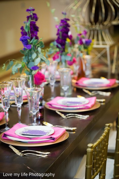 Tablescape for reception