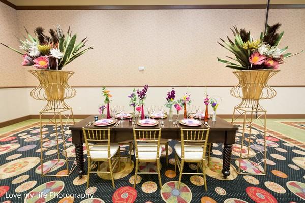 Tablescape for reception