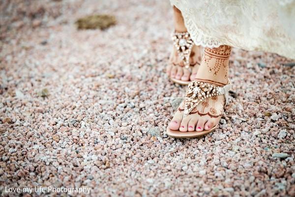Bridal footwear for ceremony