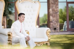 indian groom,outdoor groom portrait,outdoor indian wedding portraits,wedding chair,white chair,chair,white throne. throne