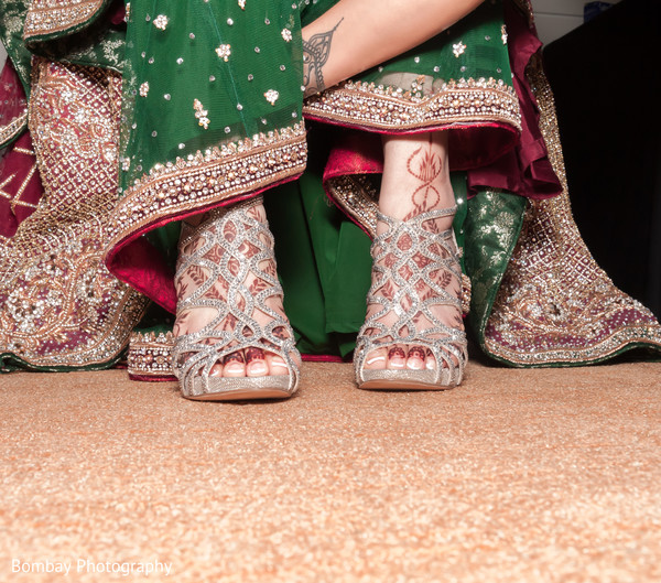 indian wedding shoes,indian bridal fashions,indian bride getting ready