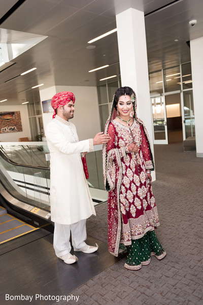 indian bride and groom,ceremony fashion,indian wedding portrait