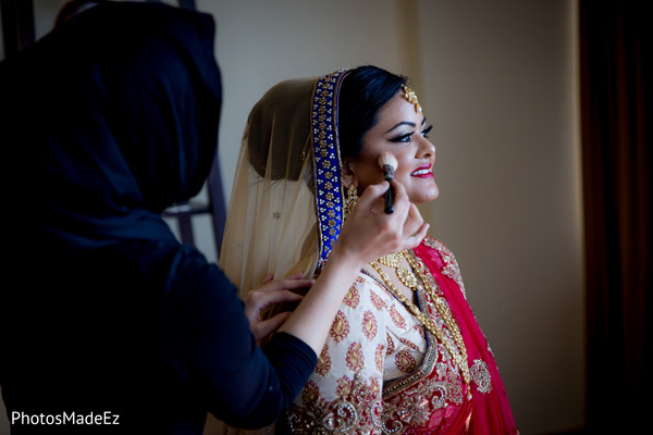 indian bride,indian wedding portrait,indian bride getting ready,indian bride makeup