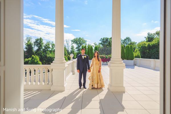 indian fusion wedding reception,indian wedding couple