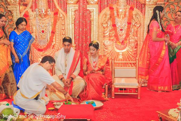 Priest during ceremony