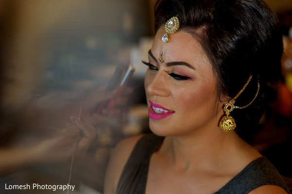 indian bridal hair and makeup,indian bride,indian bride getting ready