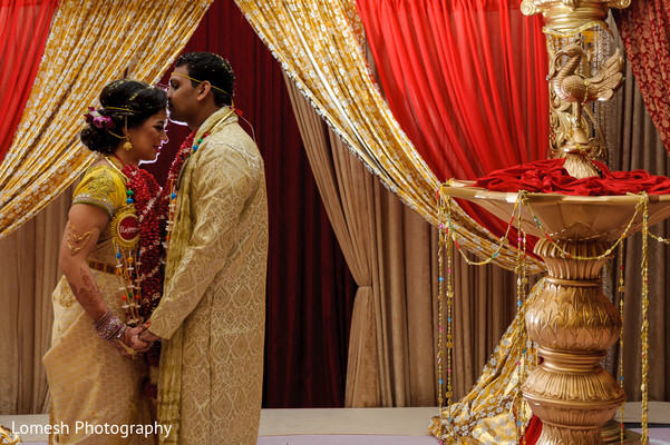 Utterly romantic south indian bride and groom photography.