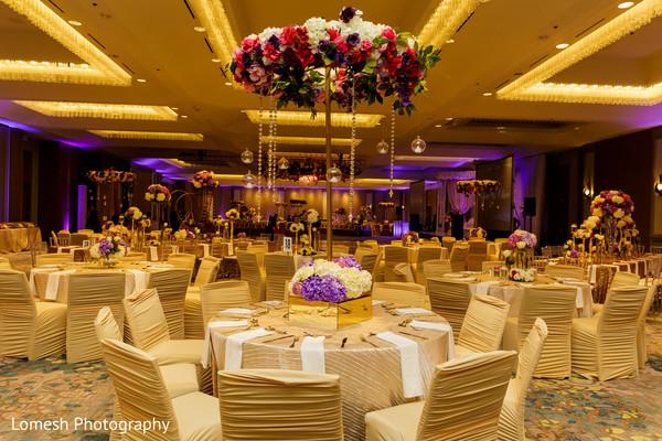 Lavish indian wedding reception.