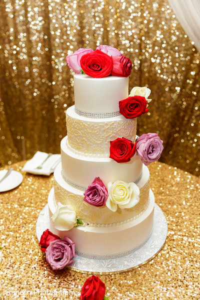 Five layer wedding cake.