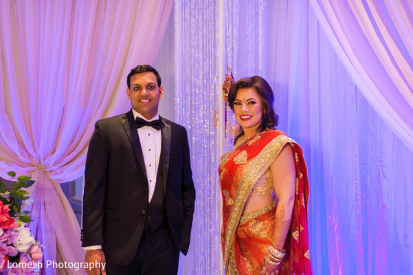 indian wedding reception,indian wedding planning and design,stage,indian bride and groom